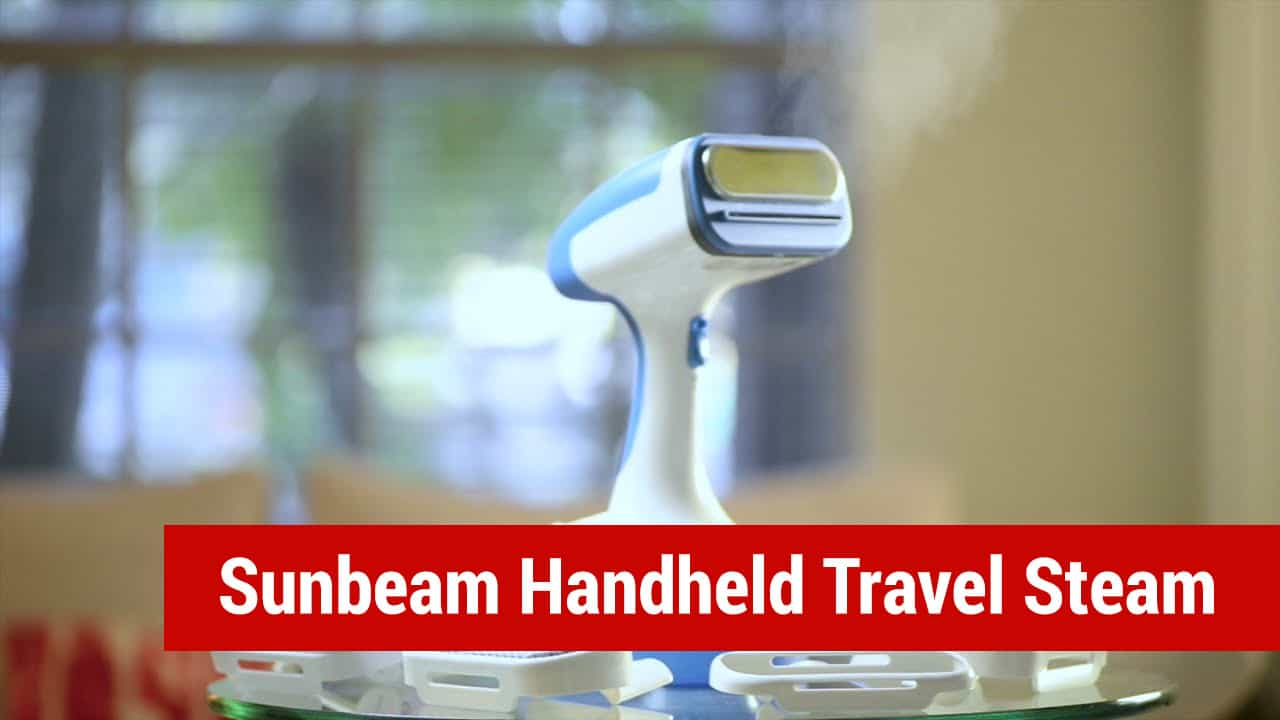 sunbeam handheld travel steamer for bed bugs and mites