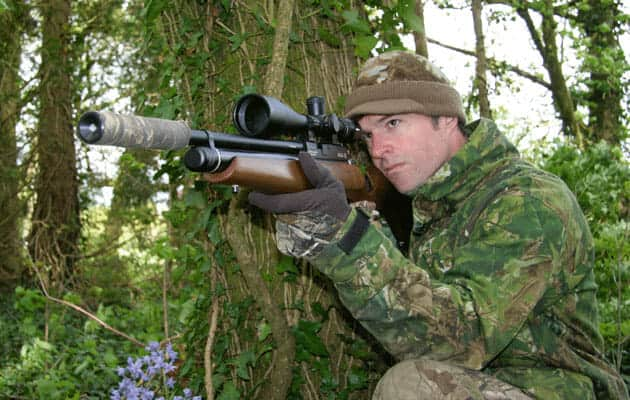 shooting rats with an air rifle