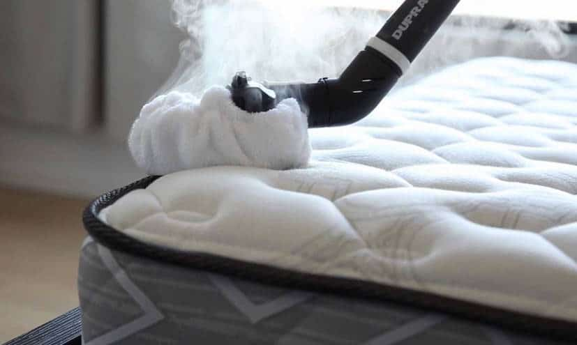bed bug steamer on mattress