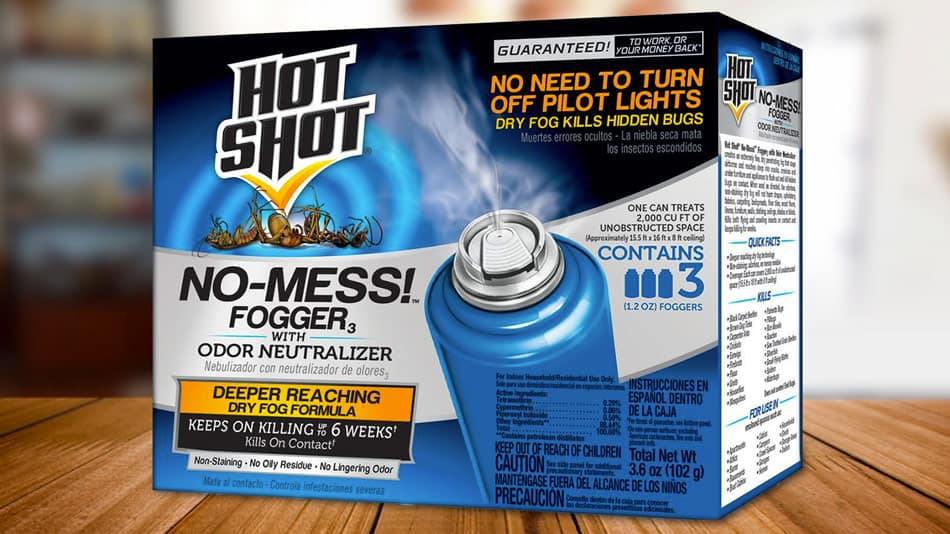 hot shot no mess fogger for killing bed bugs and fleas