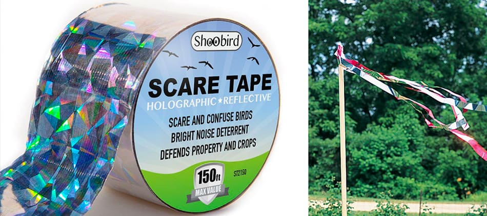 where to hang bird scare tape
