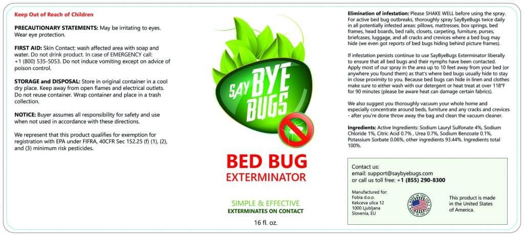 saybyebugs label