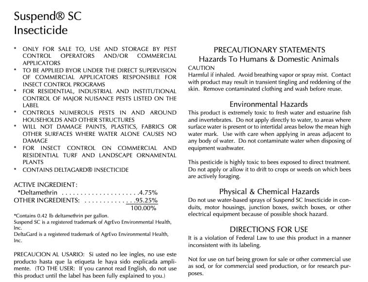 suspend sc insecticide label review