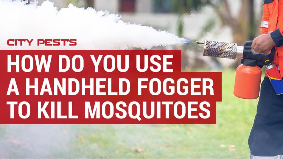 how to use a handheld mosquito fogger