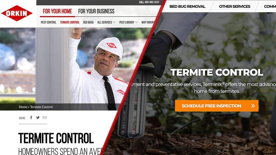 orkin vs terminix termite control
