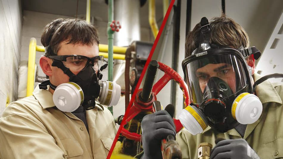 difference between Full Face and Half Face Respirators