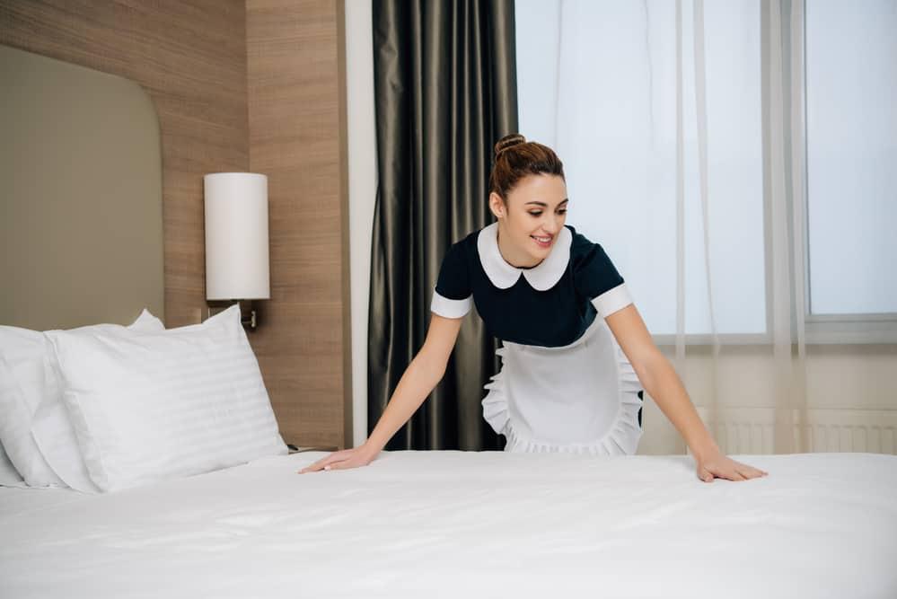 Hotel housekeeping maid